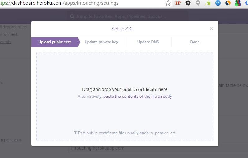 Heroku SSL