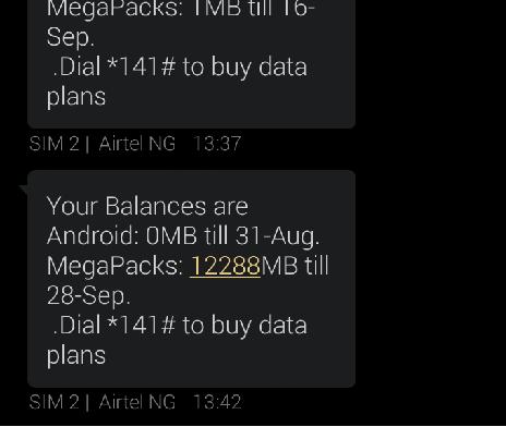 airtel data balance